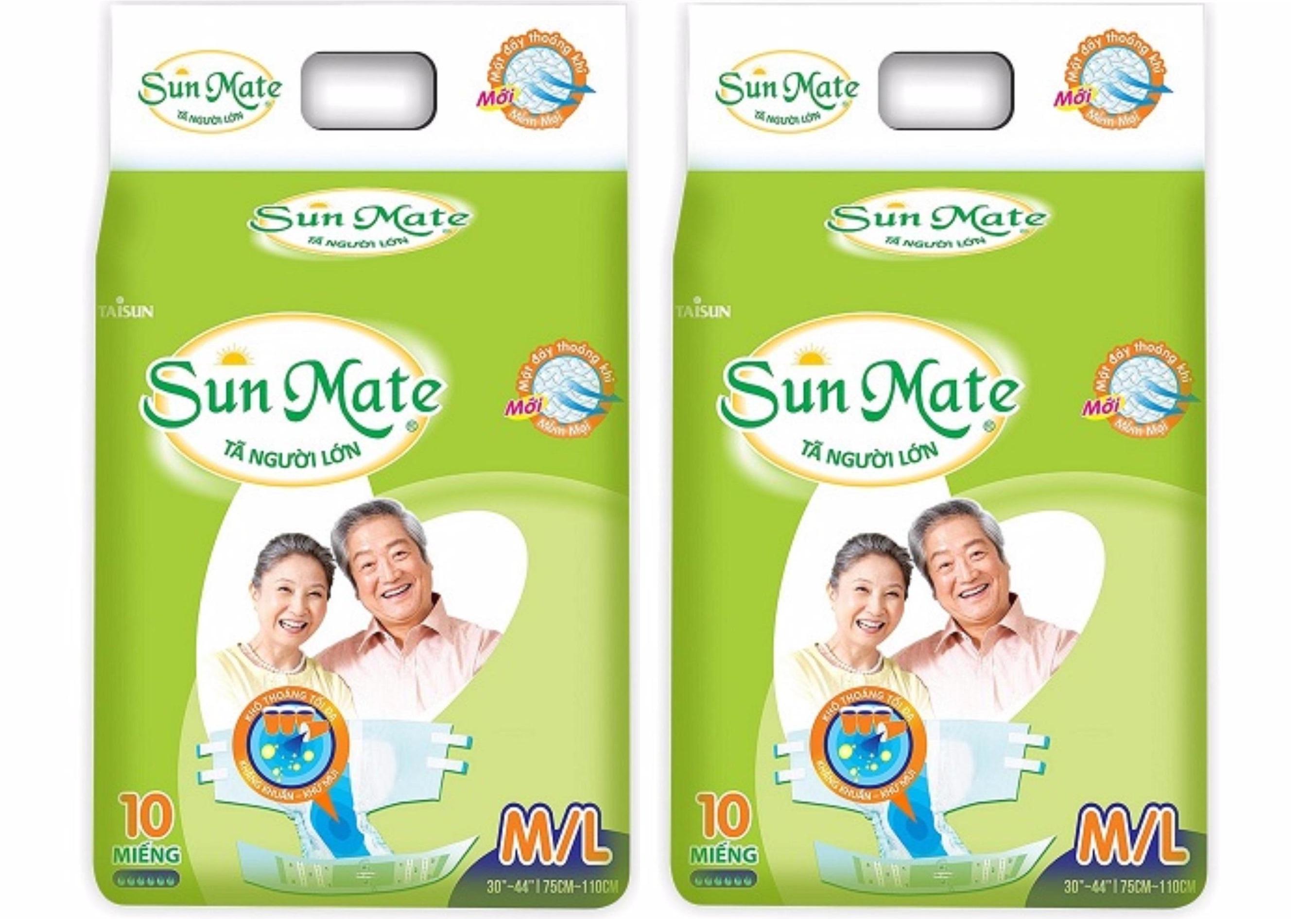 Combo 2 Gói Tã người lớn Sunmate size ML10 ( vòng bụng 75-110cm)
