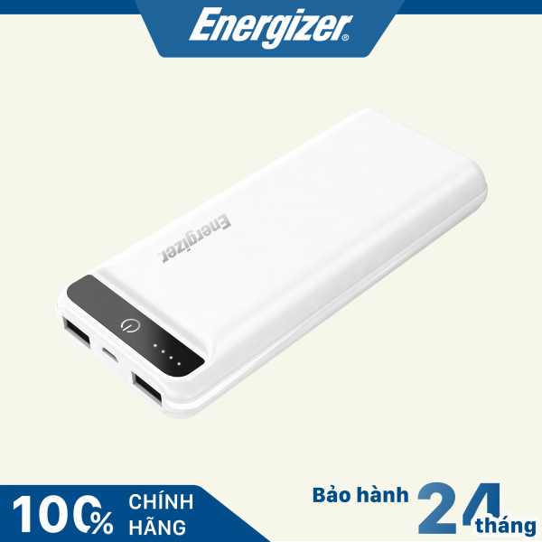 Sạc dự phòng Energizer dung lượng 15000mAh /3.7V pin Li-Polymer có đèn LED hiển thị tình trạng pin - UE15032WE