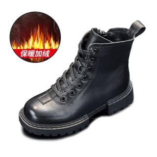 Trẻ Em Bốt Con Trai 2020 Mùa Đông Mẫu Mới Anh Da Thật Mịn Hơn Giày Cotton Boot Đi Tuyết Con Trai Dr. Martens Bé Trai thumbnail