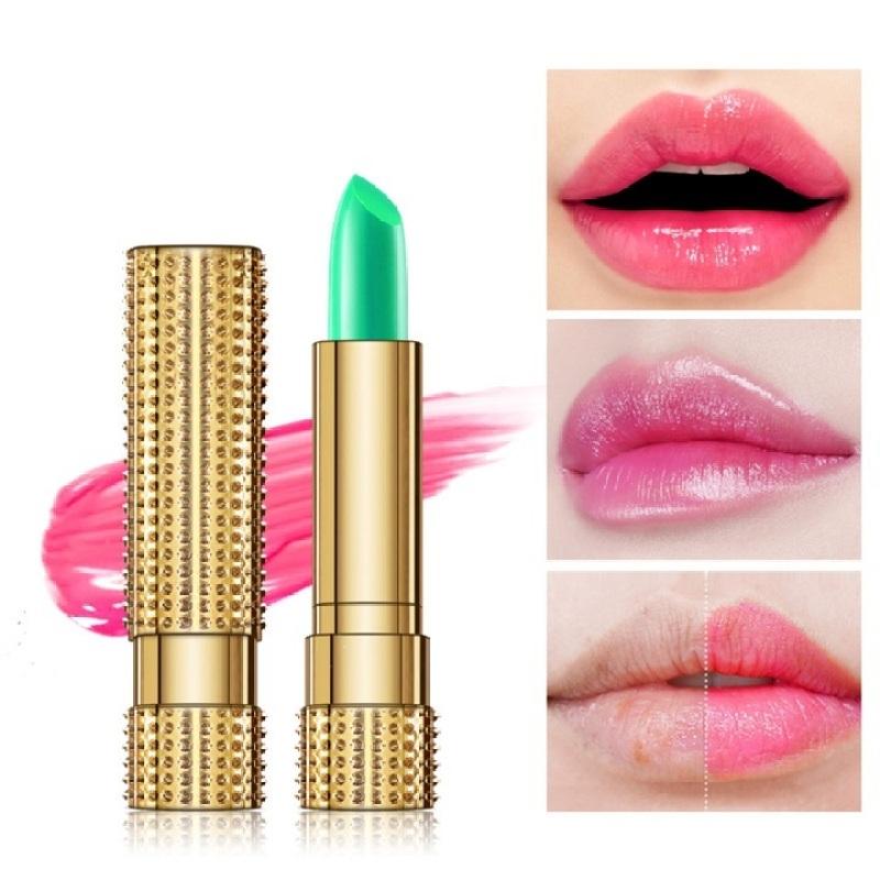 Son dưỡng môi chuyển màu hồng nhẹ Nha đam Kiss Beauty 2845 giá rẻ