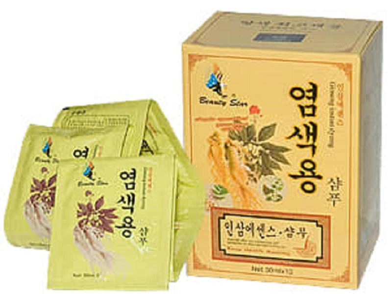 dầu gội đen tóc nhân sâm Beauty Star Hàn Quốc hộp 10 gói giá rẻ