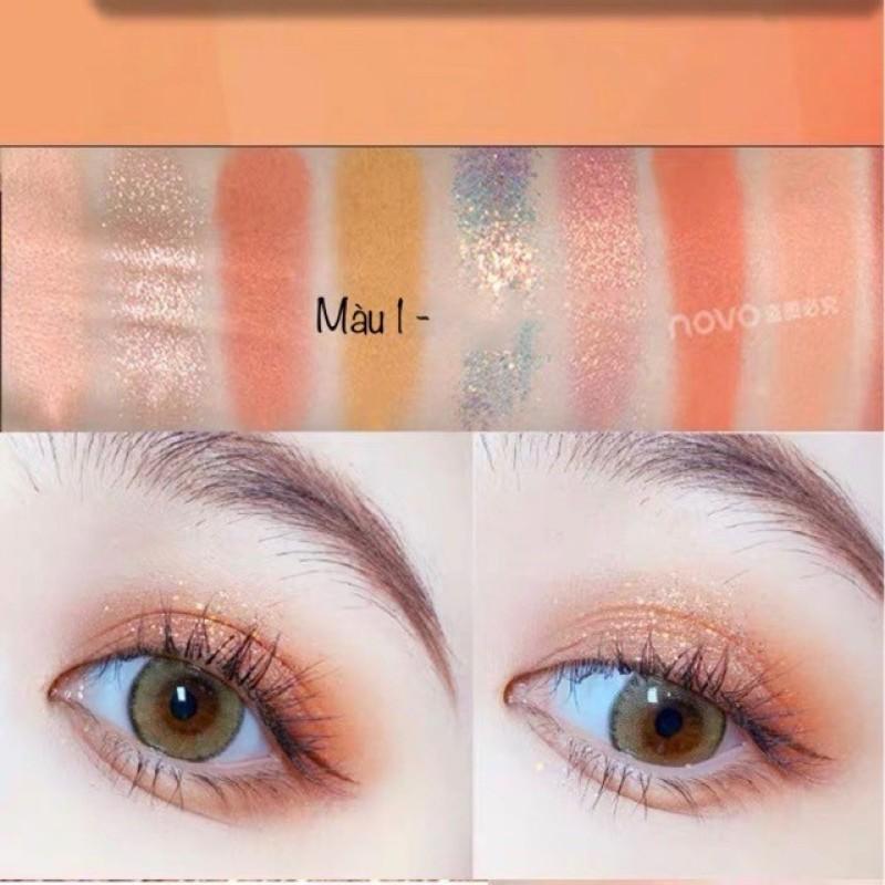Bảng Mắt Novo Dẹp 9 Ô Soft Eye Shadow Smooth Texture - SHTP052 nhập khẩu