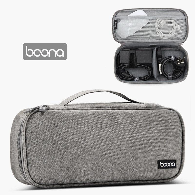 Túi đựng cáp sạc pin dự phòng chuột máy tính Macbook Laptop Ipad chính hãng Baona (Boona)