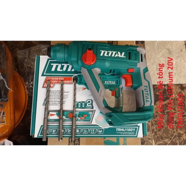 Máy khoan bê tông dùng pin 20V Total TRHLI1601 (KHÔNG PIN VÀ SẠC)