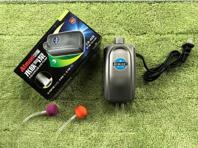 Sủi khí bể cá siêu êm 2 vòi  - Atman CR-40