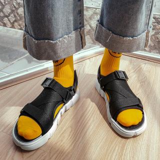 Dép sandal (xăng-đan) quai LƯỚI đế chữ unisex học sinh thời trang phong cách Hàn Quốc cực TGG68-03 5