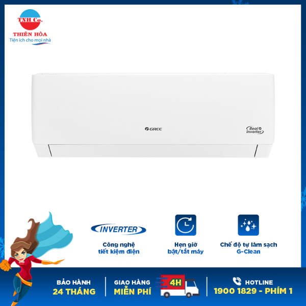 Bảng giá Máy lạnh Gree inverter 1.5 HP GWC12PB-K3D0P4