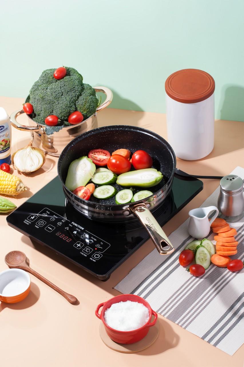 Bếp từ, bếp từ đơn Gen electric GE-A03 - Công suất 2200w. Bảo hành 12 tháng, lỗi đổi mới trong 30 ngày.