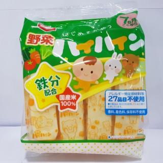 Bánh Gạo Haihain Vị Rau Củ (7m+) (53g x 16 gói)-Nội Đia Nhật Bản [HSD T8 2021] thumbnail