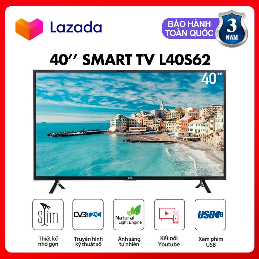 Smart Tivi LED TCL 40inch Full HD - Model L40S62 (Đen) Tích hợp DVB-T2, Internet, Wifi