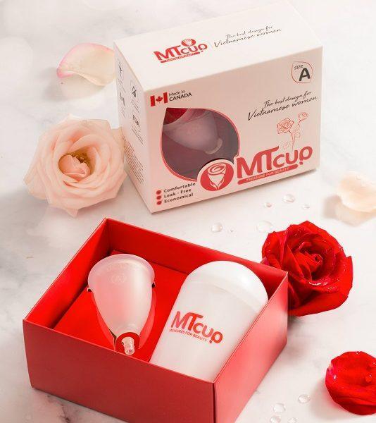 Cốc nguyệt san MTcup Canada Size A TẶNG dung dịch vệ sinh+cốc tiệt trùng+sổ tay chăm sóc phụ nữ