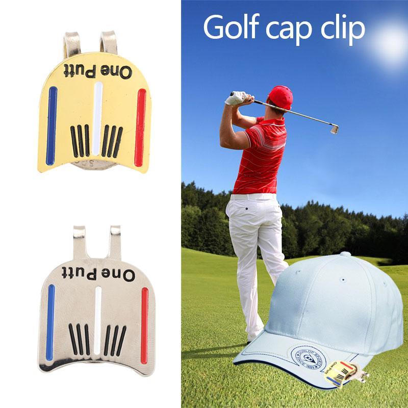 Mingrui One Putt Alloy Golf Ball Marker Golf Cap Clip Golf Hat Clip Magnetic - 4