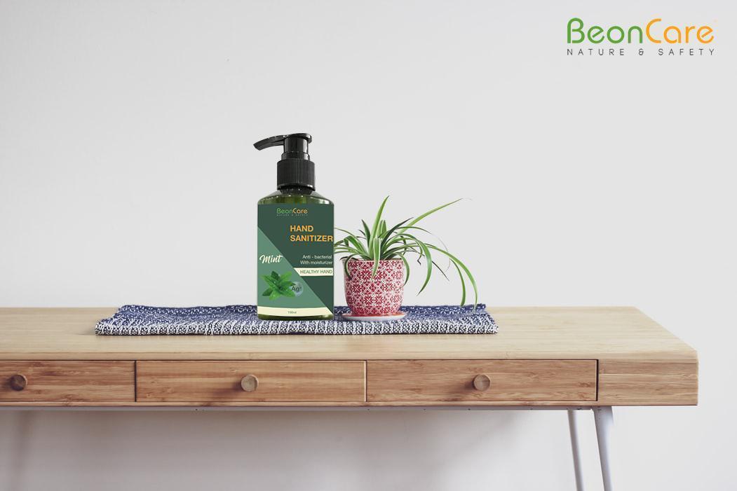 Nước rửa tay khô nano Ag+ BeonCare diệt khuẩn dạng gel nhập khẩu
