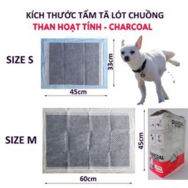 Tã lót chuồng cho chó mèo thú cưng, lót lồng khay vệ sinh, sàn xe charcoal than carbon hoạt tính(Miếng lẻ)