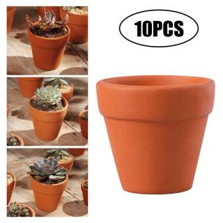 Hemoton 10 Cái 3X3Cm Nhỏ Mini Đất Nung Pot Clay Gốm Planter Xương Rồng Hoa Chậu Mọng Nước Vườn Ươm Tuyệt Vời Cho Cây Thủ Công Mỹ Nghệ Đám Cưới Ủng Hộ thumbnail