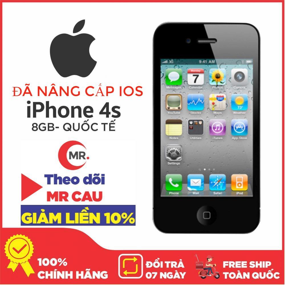 Điện Thoại Apple IPhone 4S - 8G QUỐC TẾ Apple A5 2 Nhân 32-bit  RAM 512MB TẶNG+ DÂY SẠC PHÙ HỢP CHO  SINH VIÊN NGƯỜI LỚN HỌC SINH- Điện Thoại Smartphone Giá Rẻ -MR CAU Siêu Ưu Đãi tại Lazada