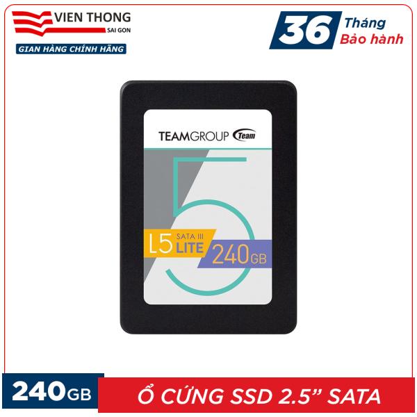 Bảng giá Ổ cứng SSD 240GB L5 LITE 2.5 inch Team Group Sata III (Bảo hành 3 năm đổi mới) - Hãng phân phối chính thức Phong Vũ