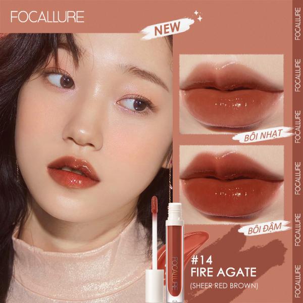 Son FOCALLURE PLUMPMAX Dewy Shine & Shimmer Glossy Lip Care Non-Sticky Vitamin E Lips Balm