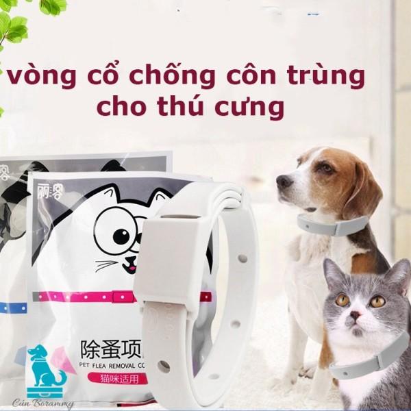 Vòng cổ chống ve rận bọ chét chó mèo - Vòng cổ chống bọ chấy trên da lông cún, mèo không thấm nước chiết xuất từ tinh dầu thiện nhiên