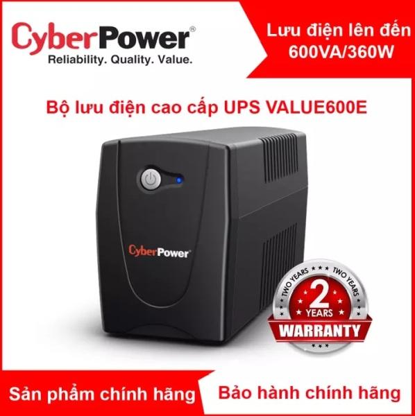Bảng giá Bộ lưu điện UPS CyberPower 600VA/ 360W cho PC/hệ thống NAS SYNOLOGY VÀ BUFFALO - VALUE600E Phong Vũ