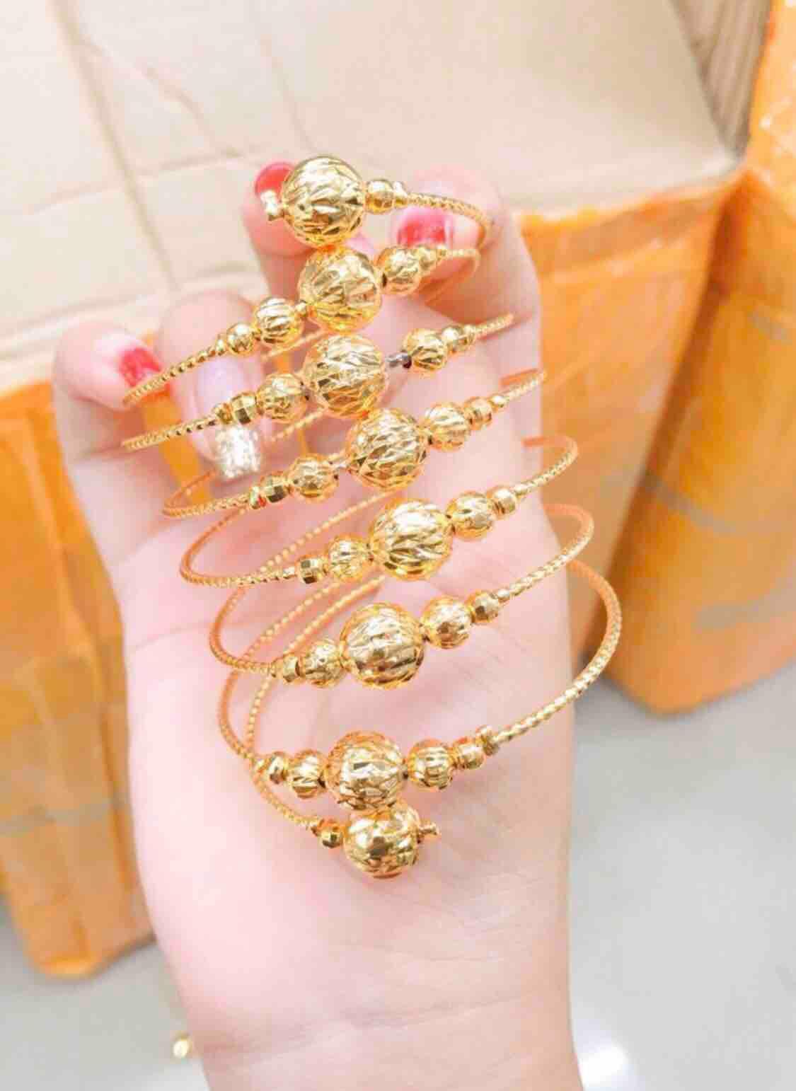 Vòng tay bi kiểu 8 hàng mạ vàng 18k cực xinh
