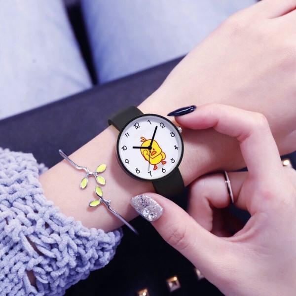 Nơi bán Đồng hồ thời trang nam nữ Candycat dây silicon mặt Vịt Kute