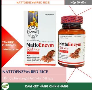 NattoEnzym Red rice [gạo đỏ] [Hộp 60 viên] - Nattokinase - [Natto enzym, nattoenzyme, natto enzyme] thumbnail