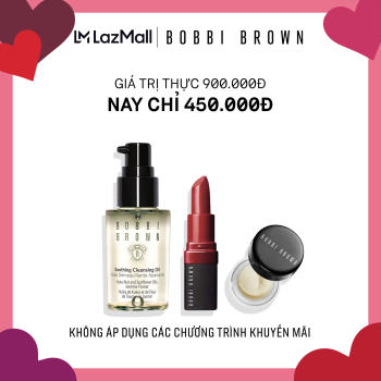 [Phiên bản trải nghiệm] Bobbi Brown 3 món: Kem lót dưỡng da Vitamin Enriched Face Base 7ml, Son Mini Crushed Lip 2.25g, Dầu Tẩy Trang Soothing Cleansing Oil 30ml