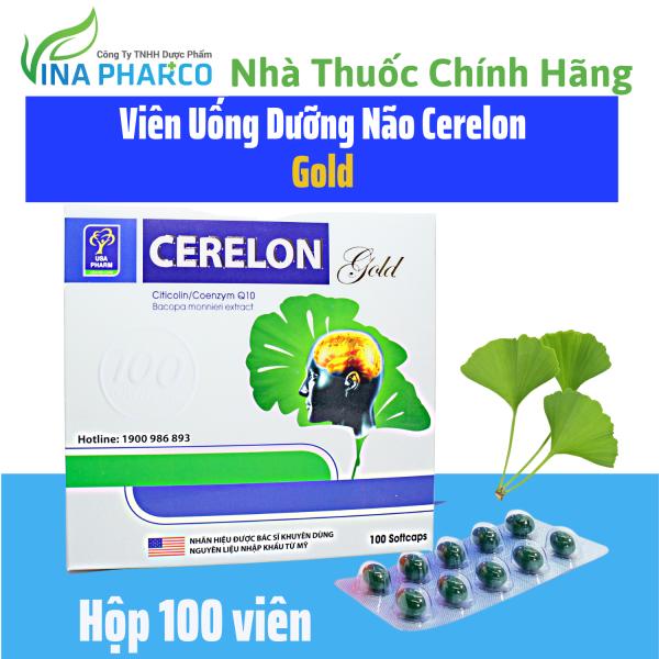 Bổ Não CERELON GOLD, hoạt huyết dưỡng não,giảm các triệu chứng tiền đình- Hộp 100 viên