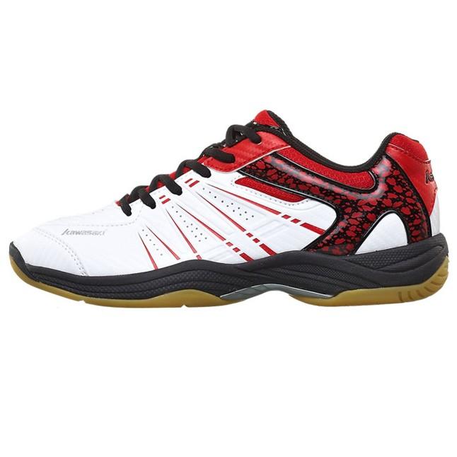 Giày cầu lông nam nữ Kawasaki K063 màu đỏ trắng cao cấp, Giày đánh cầu lông, giày bóng chuyền Kawasaki K063, giày đánh bóng bàn Kawasaki K063 màu đỏ trắng cao cấp chính hiệu. giá rẻ