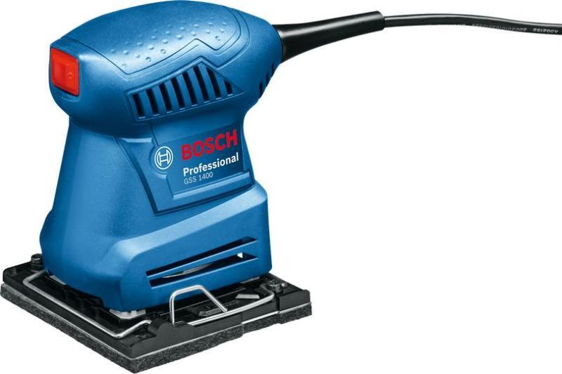 Máy chà nhám Bosch GSS 1400 + Quà tặng áo mưa