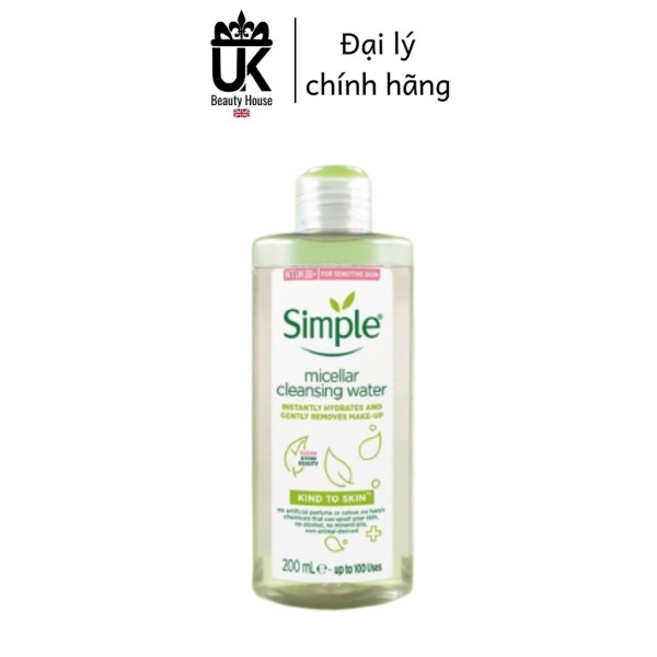 Nước Tẩy Trang Simple Micellar Cleansing Water 200Ml