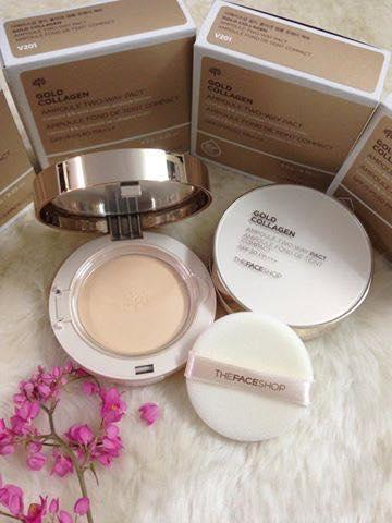 Giá Ưu Đãi Hôm Nay Để Có Ngay Phấn Nước Gold Collagen 3in1  The Face Shop - Hàn Quốc