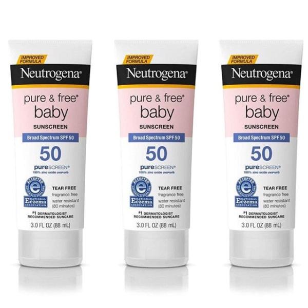Kem chống nắng cho trẻ em Neutrogena Pure & Free Baby Sunscreen LotionSPF 50 88ml
