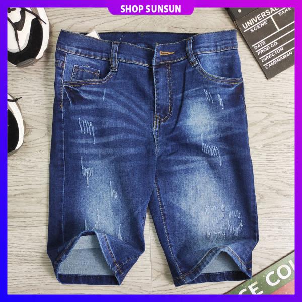 Quần short bò nam SS806 shop SUNSUN chuyên quần sọt jean nam đẹp