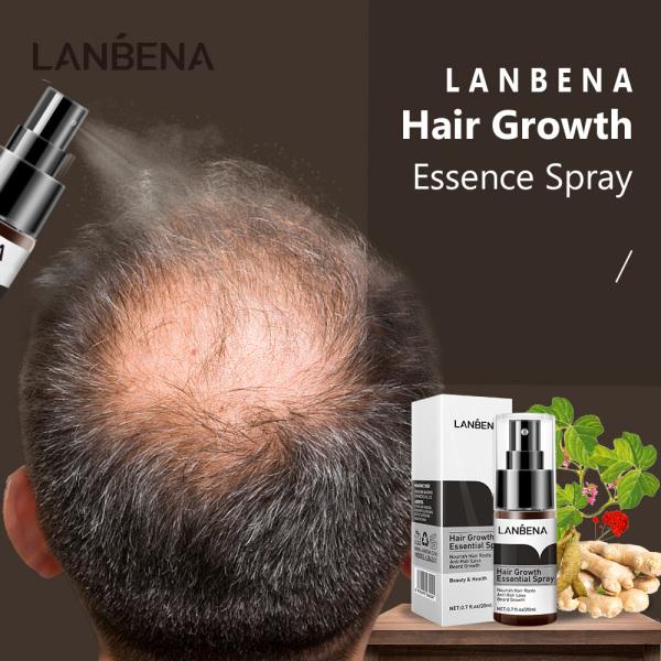 LANBENA Xịt tinh chất mọc tóc Ngăn ngừa hói đầu Tăng cường chân tóc Ngăn rụng tóc Nuôi dưỡng chân tóc Dễ dàng mang theo Chăm sóc tóc cao cấp