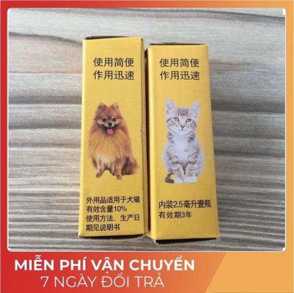 Thuốc Tuýp Nhỏ Gáy Trị Ve Rận Cho Chó Mèo Xứ Đài