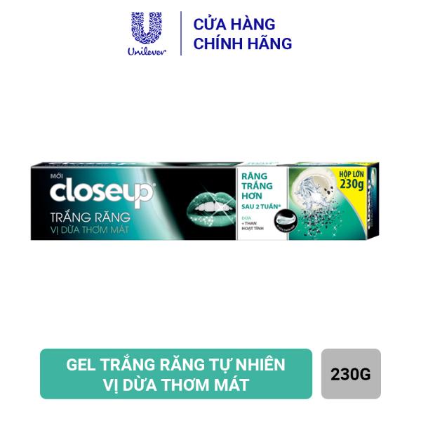 Kem đánh răng dạng GEL Closeup Trắng Răng Tự Nhiên Vị Dừa Thơm Mát 230g giá rẻ