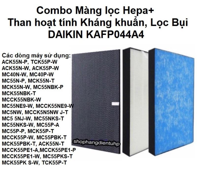 Combo Màng lọc Hepa Dakin+Than hoạt tính (KAFP044A4)MC55NBK-P(390x245x45mm) DAIKIN vầng trăng