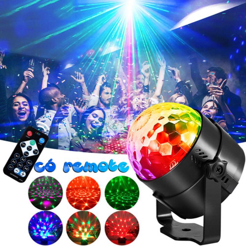(LOẠI CÓ REMOTE , BẢO HÀNH 6 THÁNG) Đèn Led Xoay 7 Màu cảm ứng theo nhạc , Đèn nháy tết , đèn trang trí karaoke , đèn trang trí tiệc , đèn nháy 7 màu , dàn nháy , đèn xoay