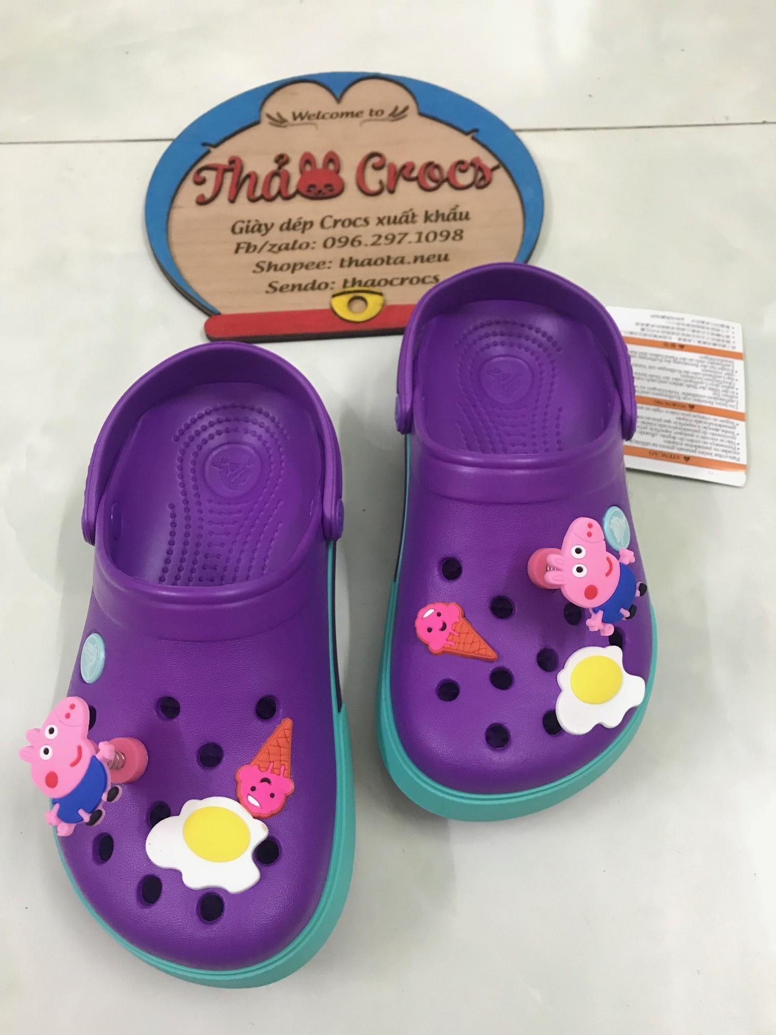 Sục Crocs cho bé- được làm hoàn toàn từ nhựa thông, chống mùi hôi chân(tặng 2 sticker)