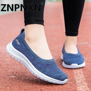 ZNPNXN 2020 Giày lười đế bệt Hàn Quốc cho phụ nữ Đi máy bay giản dị Không trơn trượt Giày chạy bộ thoải mái Kích thước 35-42