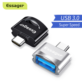 Essager USB Type C OTG Adapter For Samsung Note 10 Xiaomi mi USBC Connector USB-C Type-C To USB 3.0 OTG Converter thumbnail