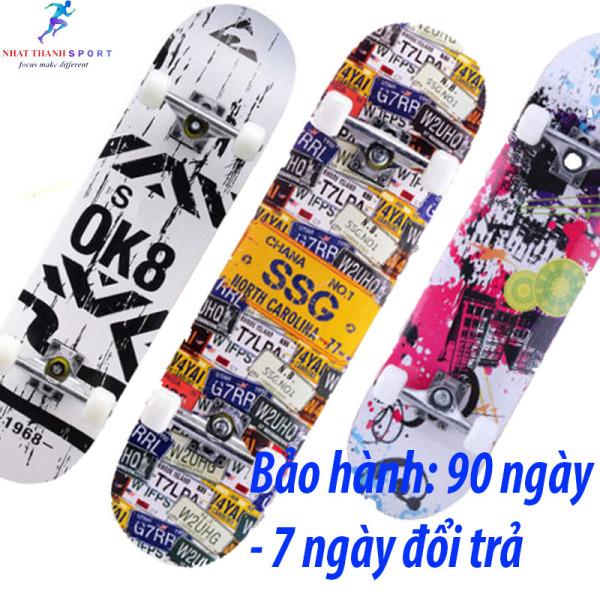 Mua Ván trượt, ván trượt thể thao mặt nhám skateboards sports gỗ ép 7 lớp, tải trọng 150kg, ván trượt thể thao