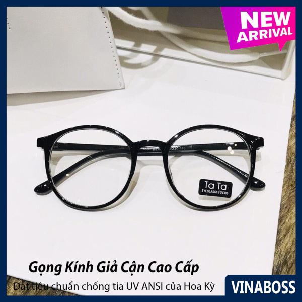 Giá bán Kính giả cận nam nữ Hàn Quốc gọng dẻo VNTATA - Gọng kính cận nam nữ không độ cao cấp tròng chống tia UV - Tặng kèm túi da và khăn lau