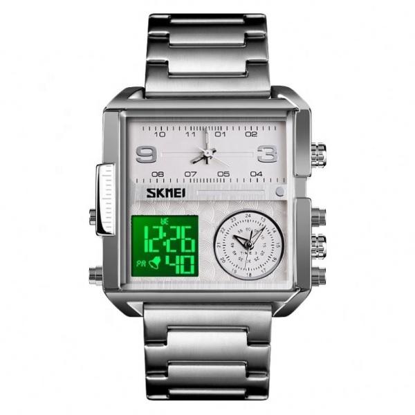[BH 1 NĂM] [THEO DÕI SHOP NHẬN VOUCHER 15K] Đồng hồ nam dây thép SKMEI 1584 TREND 2020 (TẶNG HỘP VÀ PIN) bán chạy