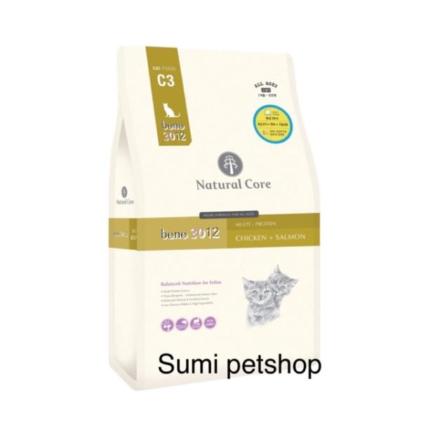 [HCM]1.5kg Thức ăn Natural Core C3 Bene 3012 cho mèo thịt gà & cá hồi chất lượng đảm bảo an toàn đến sức khỏe người sử dụng cam kết hàng đúng mô tả