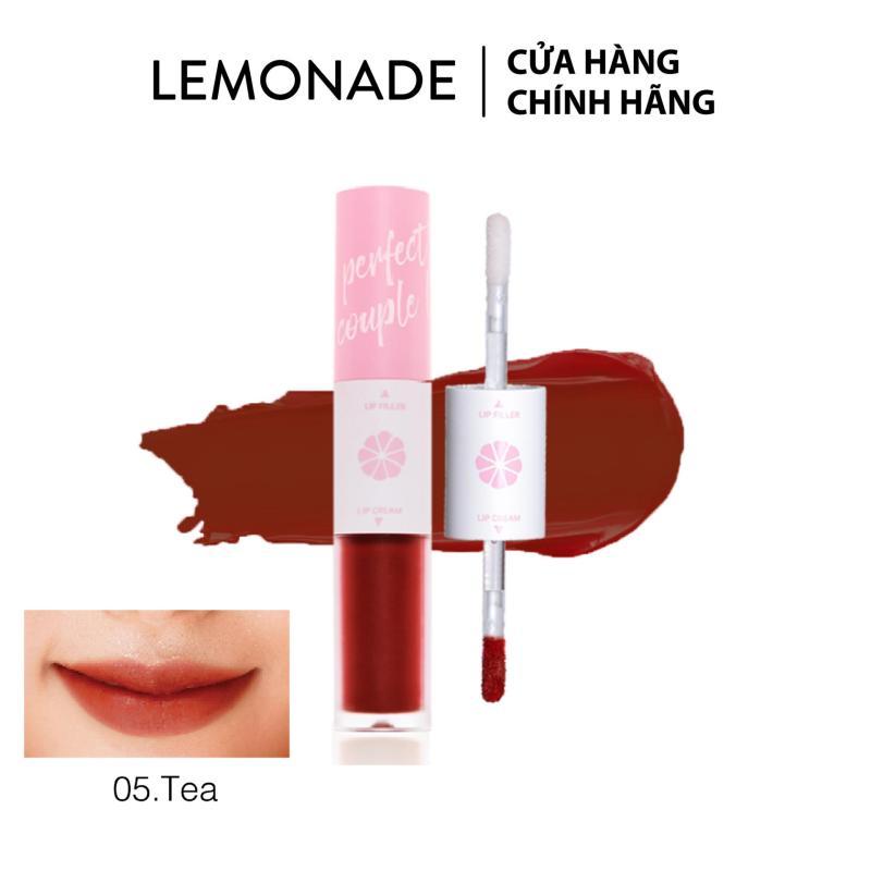 Son LEMONADE Perfect couple lip 05 Tea đỏ đất