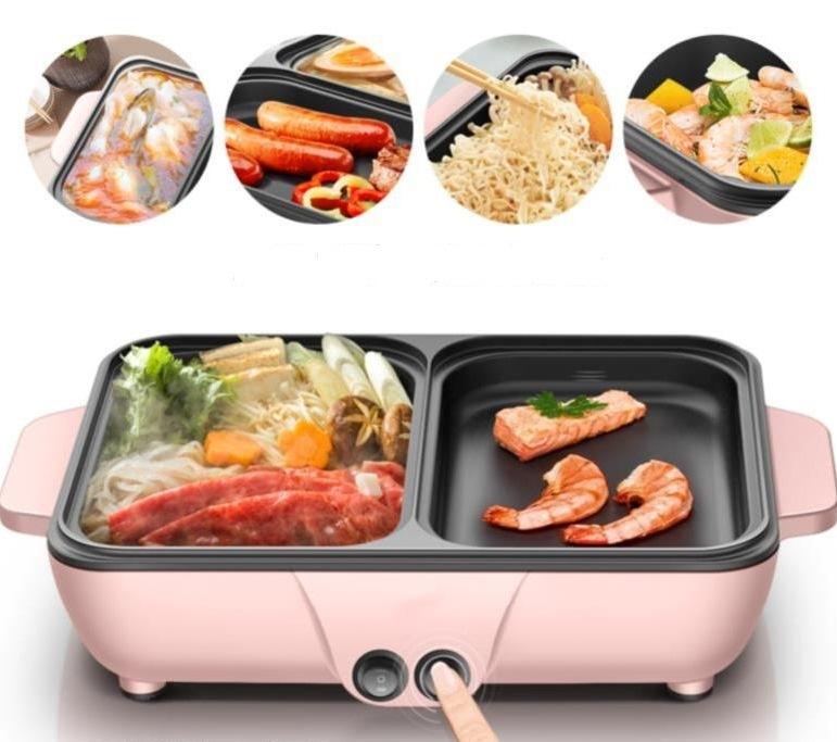 Bếp Nướng Kiêm Lẩu điện đa Năng 2 Trong 1(đen) - Bếp Lẩu Nướng 2 Trong 1 đa Năng Hàn Quốc Đang Ưu Đãi
