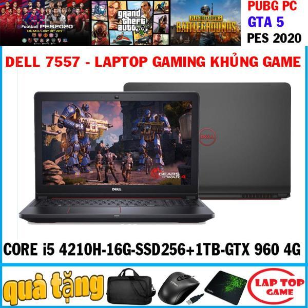 [Trả góp 0%]Dell 7557 -máy khủng game Core i5-4210H, i7-4720HQ /ram 16g ssd 256+hdd 1tb VGA GTX 960M màn 15.6″ FHD 1080 ) Máy chơi game hạng năng